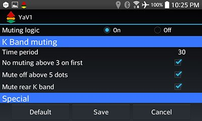 V1 muting options