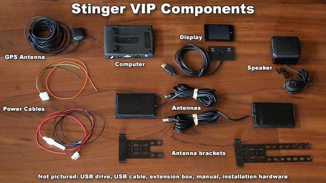 Stinger VIP components radar detector