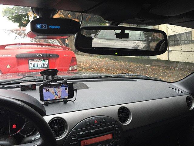 Max360 mounted in Miata