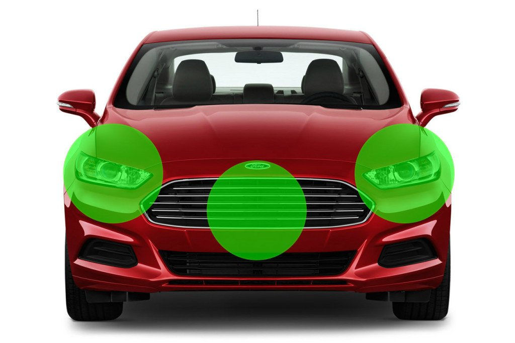 Lidar targets on vehicle: How many AntiLaser Priority heads