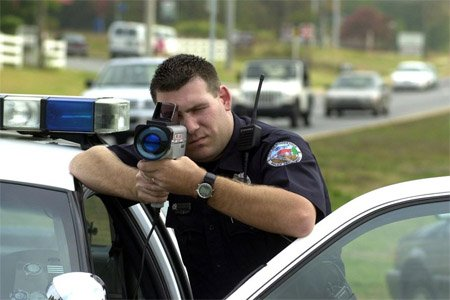 Frequently Asked Questions about Radar Detectors: Police Officer shooting PL2