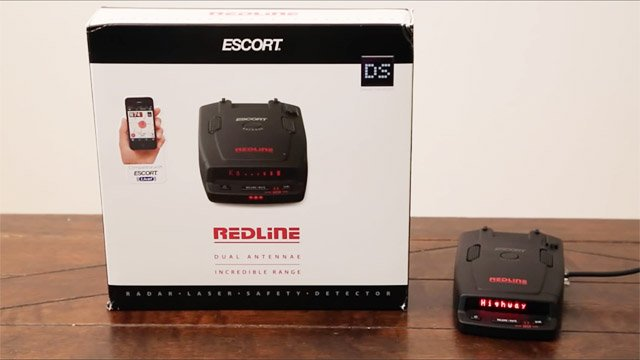 Escort Redline and box, Escort Redline settings