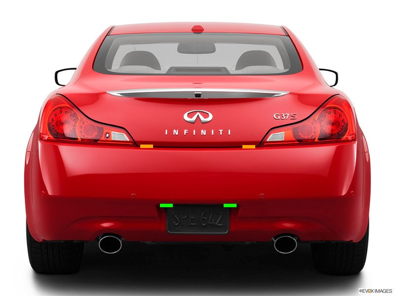 Infiniti G37 rear head locations