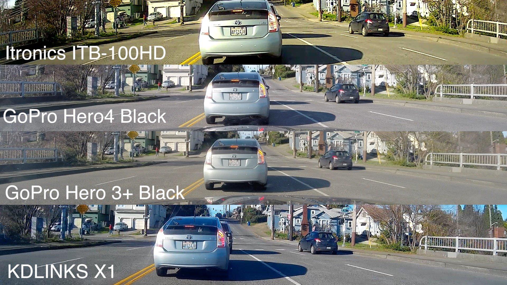 Comparison shot ITB GoPros X1