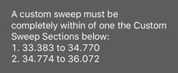 Custom Sweep Ranges