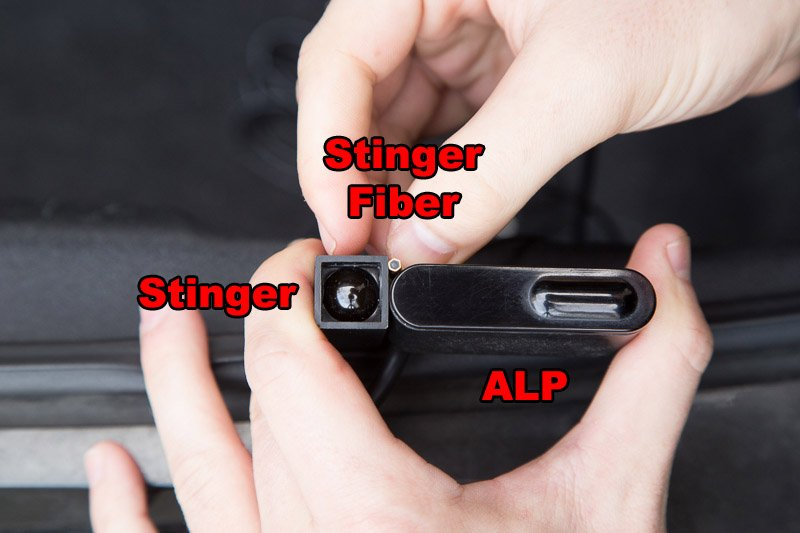 Stinger VIP, fiber, ALP heads front, side labeled