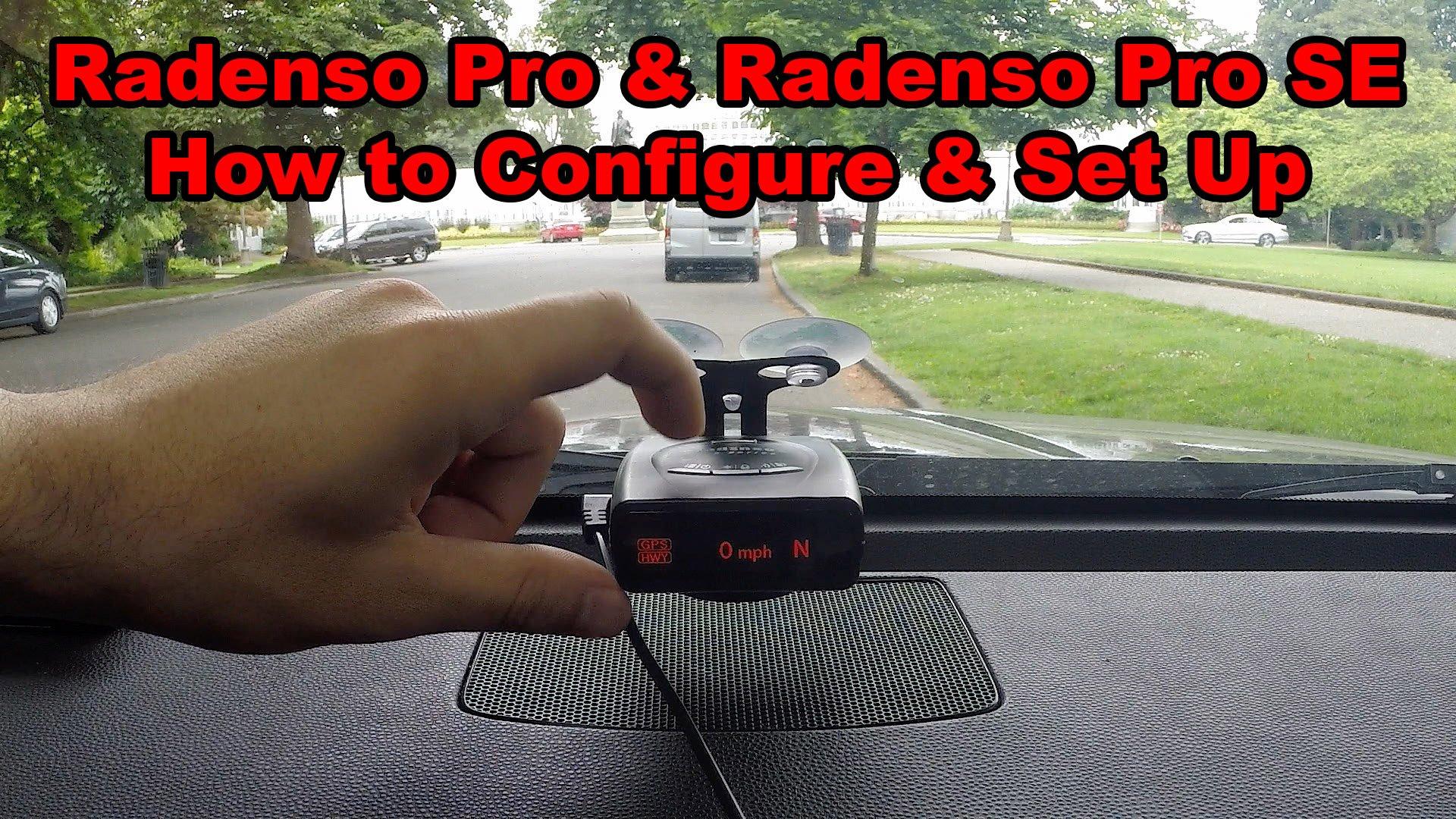 How to Set Up & Configure the Radenso Pro & Radenso Pro SE