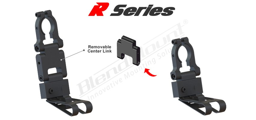 Blendmount R series removable middle section