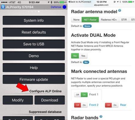 Net Radar configuration: Bluetooth updates