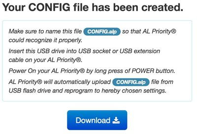 download config file