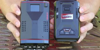 Redline EX and Uniden R3 side by side