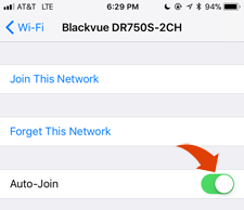 Blackvue DR750S-2CH Review disable WiFi iPhone
