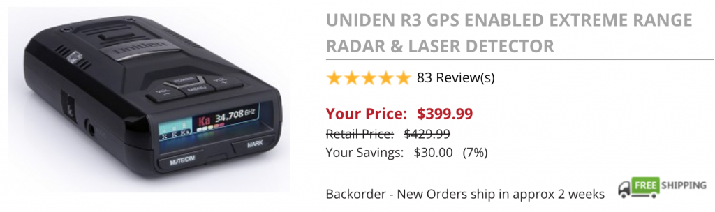 Where to buy the Uniden R3: BRD