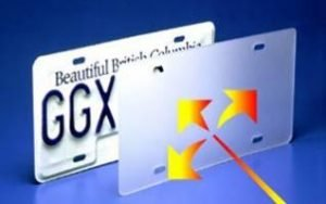 License plate laser cover