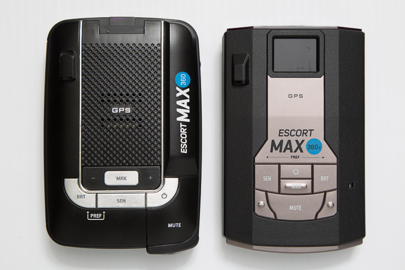 Max 360c size comparison: Escort Max360 and Max 360c radar detectors
