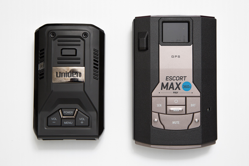 Uniden R3 and Escort Max 360c radar detectors