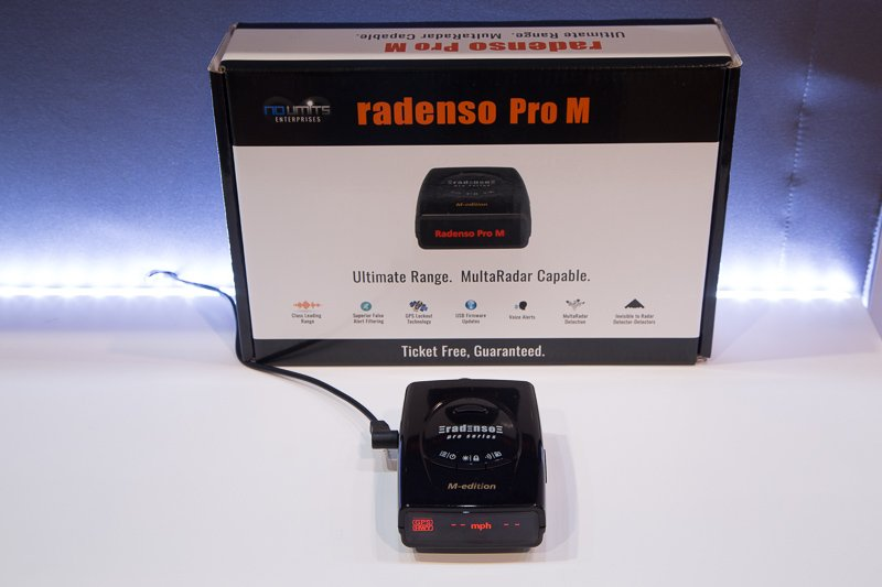 Radenso Pro M on display