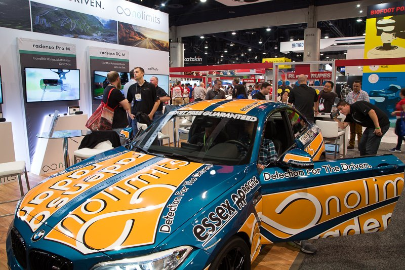 Radenso booth at SEMA