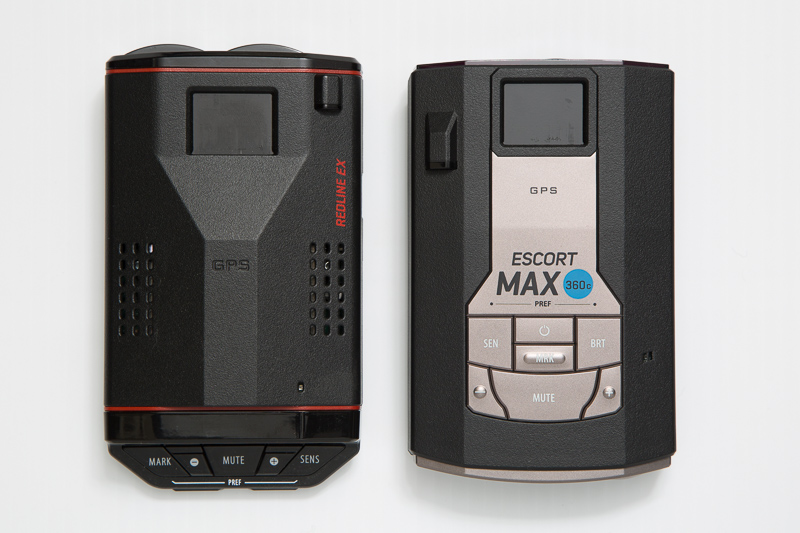 Escort Redline EX and Max 360c radar detectors