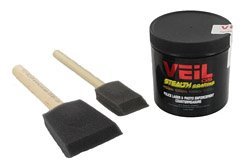 Veil paint can and brushes