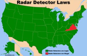 Radar Detector Laws Map: Where Radar Detectors are Legal