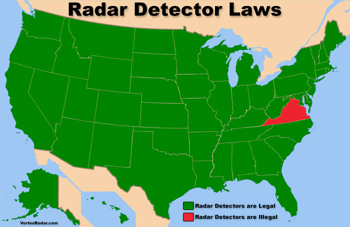Are Radar Detectors Legal >> Are Radar Detectors Legal In The Usa Police Radar Detector Laws