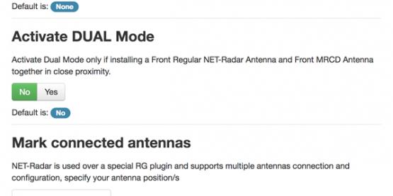 Set Net Radar DSP settings website
