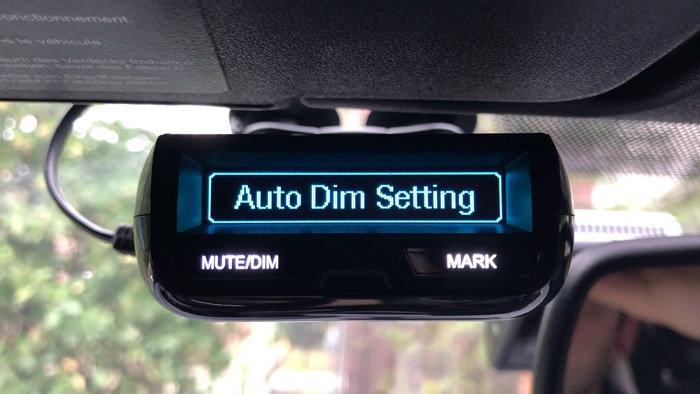 Auto Dim settings menu option