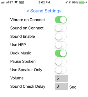 V1Driver Sound Settings