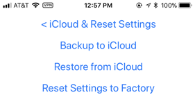 V1Driver iCloud and Reset Settings