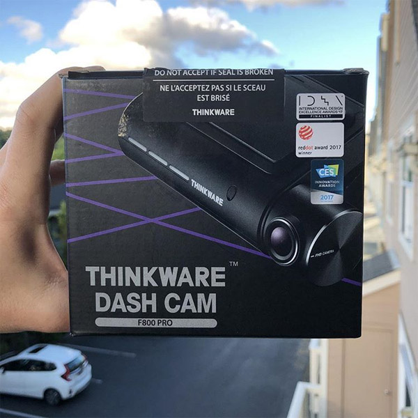 Thinkware F800 Pro dashcam to give away