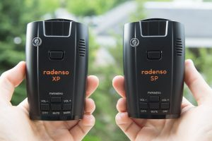 Radenso XP and Radenso SP Radar Detectors side by side