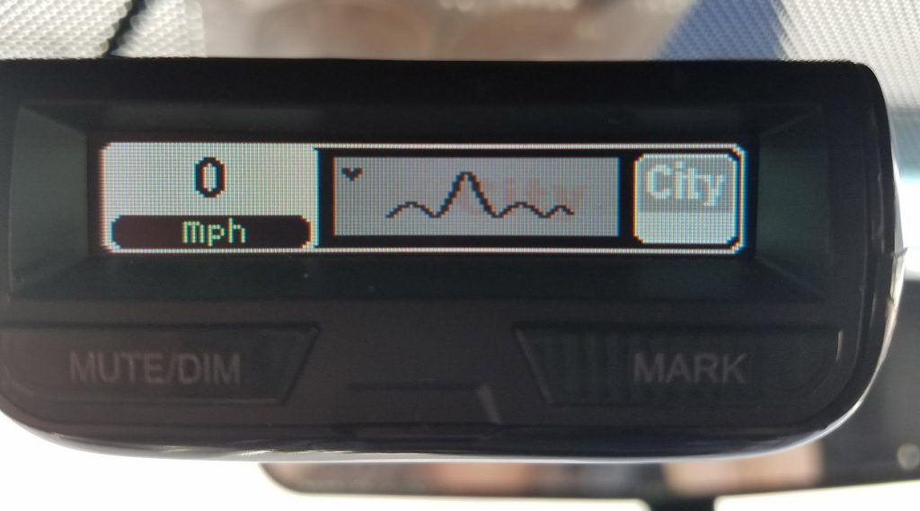R3 OLED display burn-in saying City, photo by Jag42
