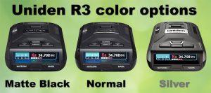Uniden R3 matte black, normal, silver