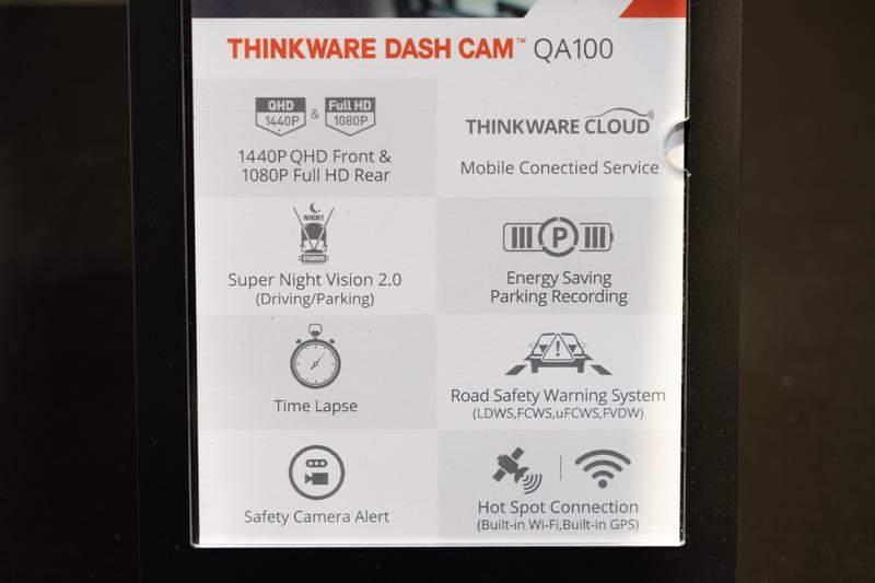 Thinkware QA100 specs