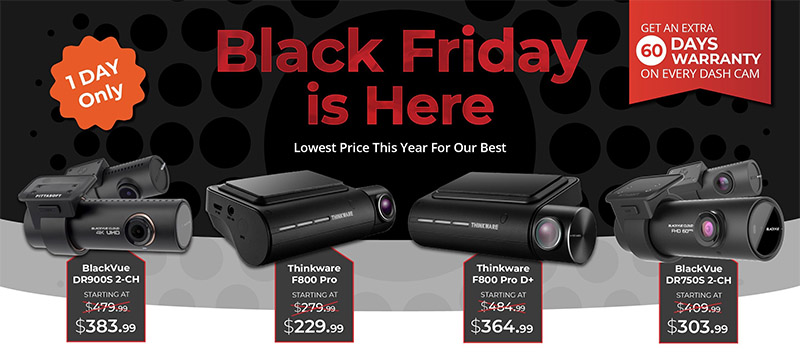 BlackboxMyCar Dash Cam Black Friday Sale 2018