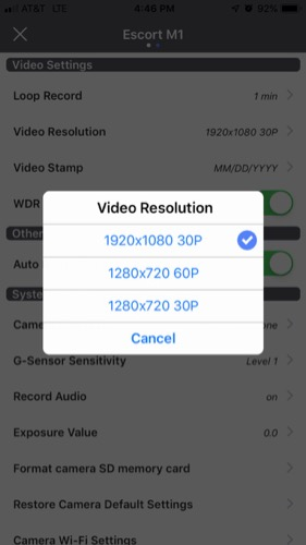 M1 WiFi resolution settings