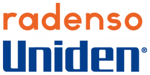 Radenso and Uniden logos