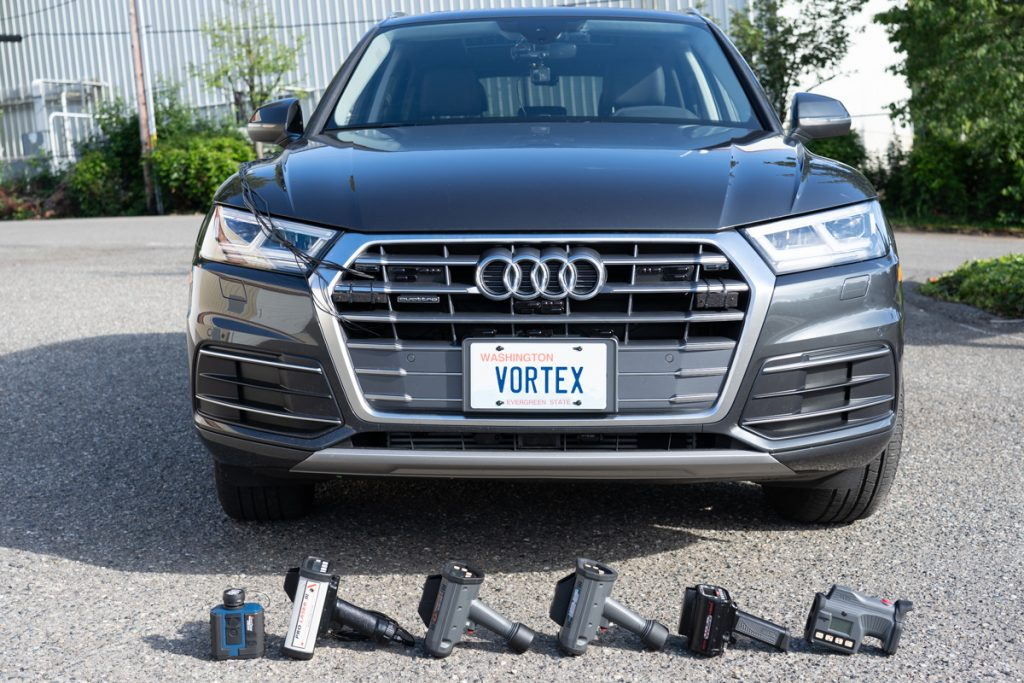 Audi Q5 Test Vehicle with Jammers and Lidar Guns