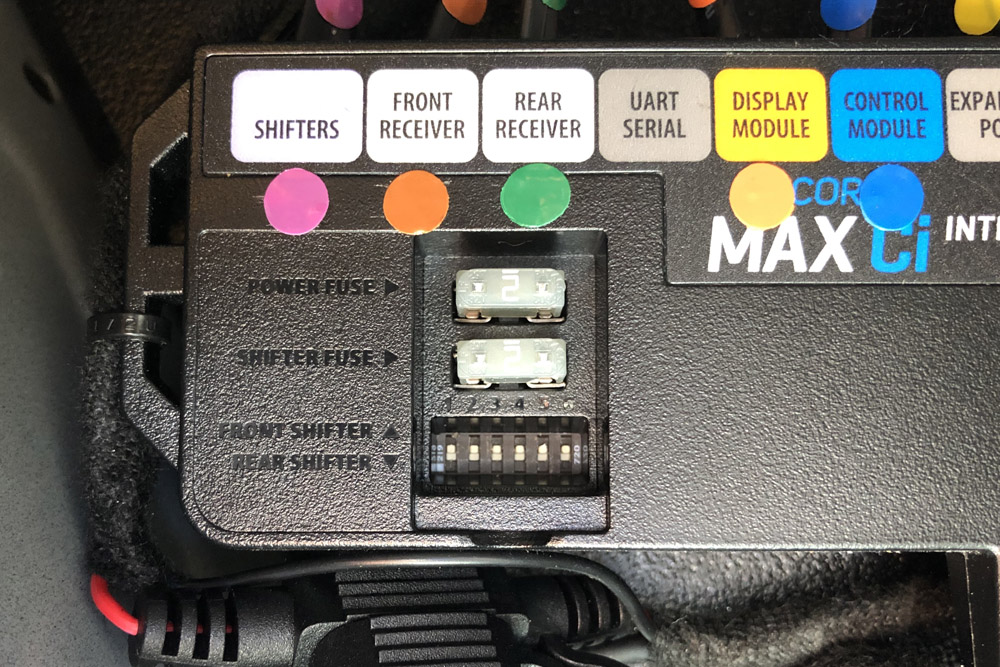 Max Ci 360 DIP switches all set to front