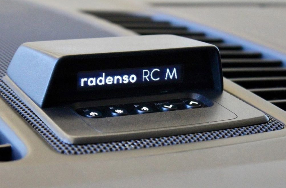Radenso RC M display and controller split on dash, by Musicar Northwest