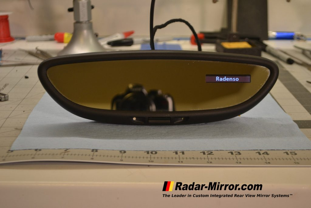 Radenso RC M display installed in a RVM by Radar Mirror