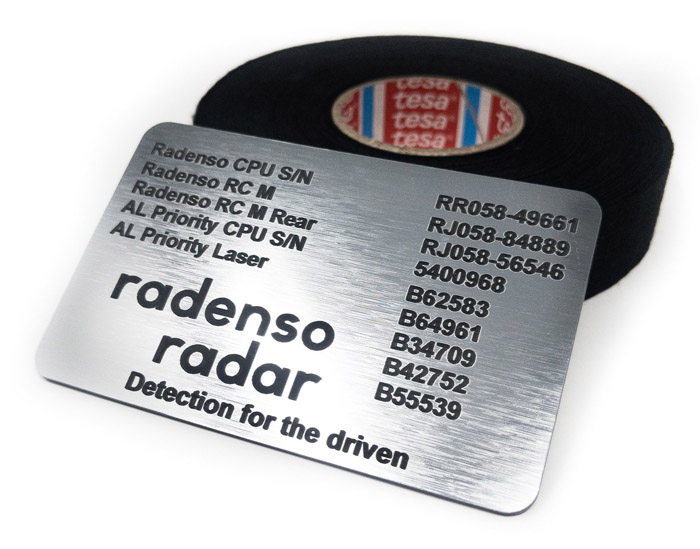 Radenso serial number card