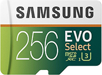 Samsung 256gb MicroSD Card for 44% Off