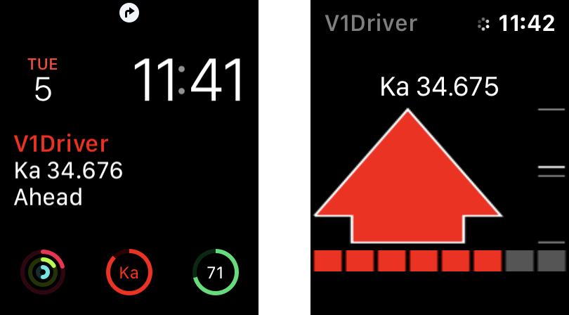 V1Driver Apple Watch Ka alerts