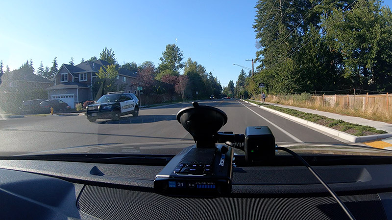 Escort Max 3 and M1 dashcam vs Sheriff 35.5