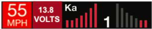 Escort Redline 360c Display showing Voltage