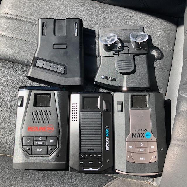 R7, V1 Gen2, Redline 360c, Max 3, Max 360c in seat for testing