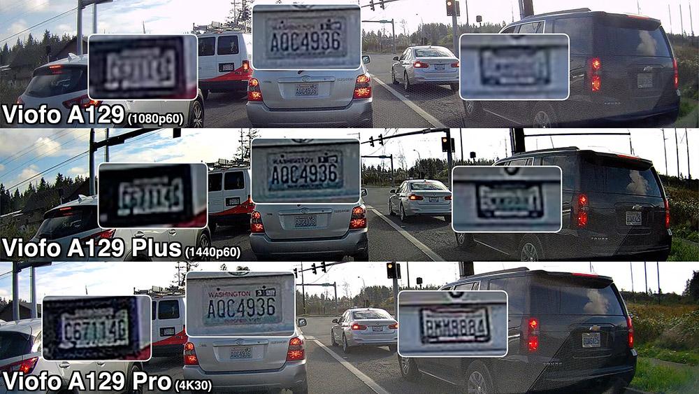 A129 Daytime License Plate Comparison