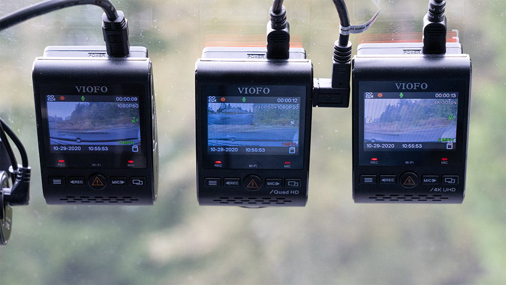 Viofo A129 Duo, A129 Plus, & A129 Pro on windshield